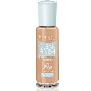 Rimmel Clean Finish Matte Foundation230 Warm Ivory